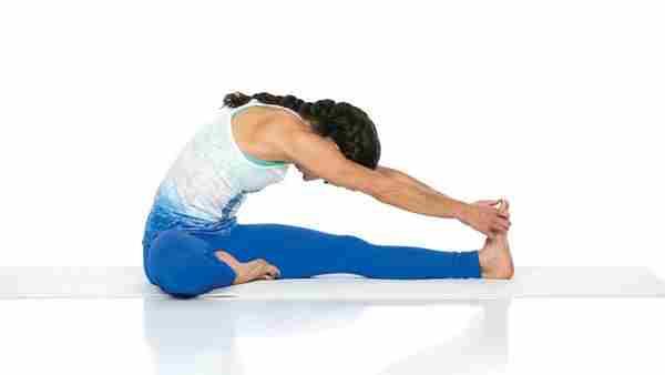 Джану Ширшасана хатха йога