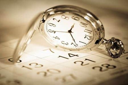 часы на календаре