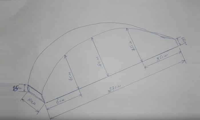 Сделать подушку Мейрама можно самостоятельно в домашних условиях из цельного дерева, используя чертеж схему, выполненную на стандартном листе бумаги